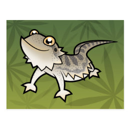 Cartoon Bearded Dragon / Rankin Dragon Postcard