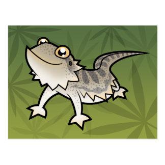 Cartoon Bearded Dragon / Rankin Dragon Postcard