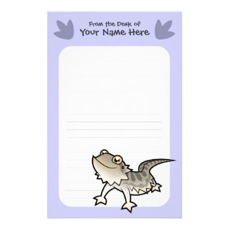 Cartoon Bearded Dragon / Rankin Dragon Stationery
