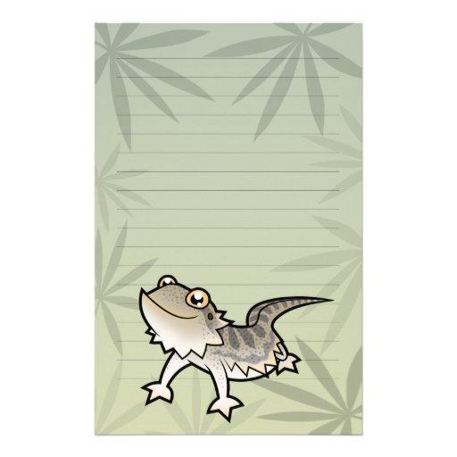 Cartoon Bearded Dragon / Rankin Dragon Stationery