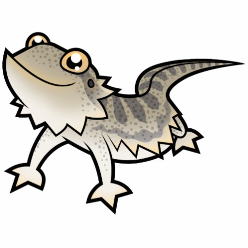 Cartoon Bearded Dragon / Rankin Dragon Statuette