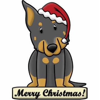 Cartoon Beauceron Christmas Ornament Photo Cutouts