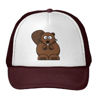 Cartoon Beaver Cap Mesh Hats