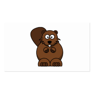 Cartoon Beaver Double-Sided Standard Business Cards (Pack Of 100)