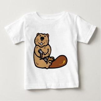 Cartoon Beaver for International Beaver Day Baby T-Shirt