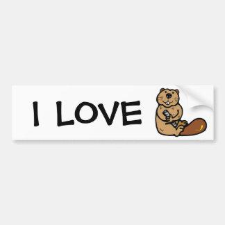 Cartoon Beaver for International Beaver Day Bumper Sticker