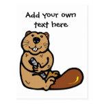 Cartoon Beaver for International Beaver Day Postcard