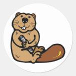 Cartoon Beaver for International Beaver Day Sticker