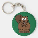 Cartoon Beaver Keychain