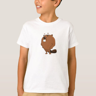 Cartoon Beaver - Kids T-Shirt