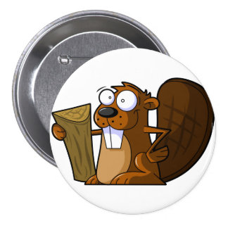 Cartoon Beaver Pin