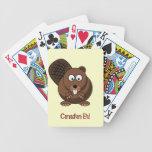 Cartoon Beaver Playing Cards