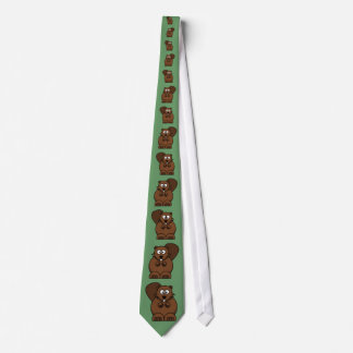 Cartoon Beaver Tie