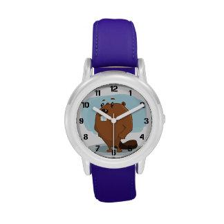 Cartoon Beaver Wristwatches