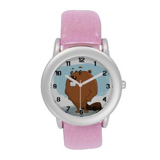 Cartoon Beaver Wrist Watches