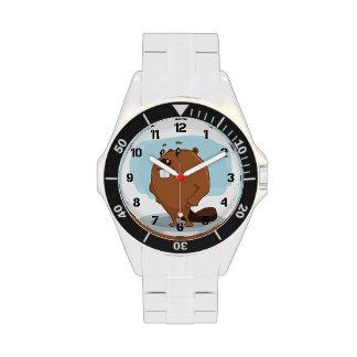 Cartoon Beaver Wrist Watch