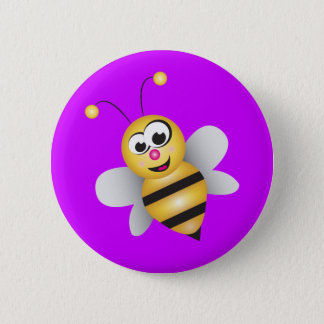 Cartoon Bee Button