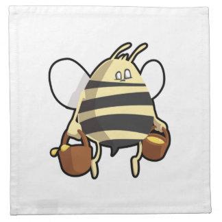 Cartoon Bee Carrying Honey Printed Napkins