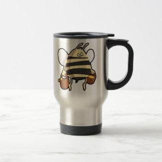 Cartoon Bee Carrying Honey Travel Mug