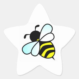 Cartoon Bee/Honeybee Star Sticker