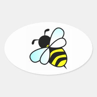 Cartoon Bee/Honeybee Oval Sticker