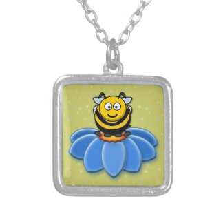 cartoon bee personalized necklace