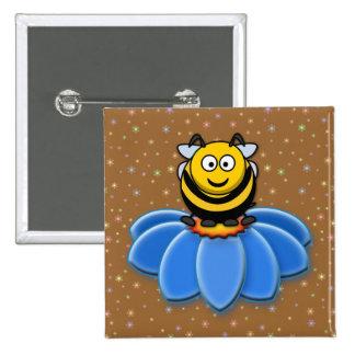 cartoon bee pinback button