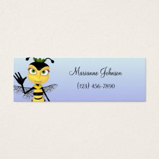 Cartoon Bee Skinny Profile Card