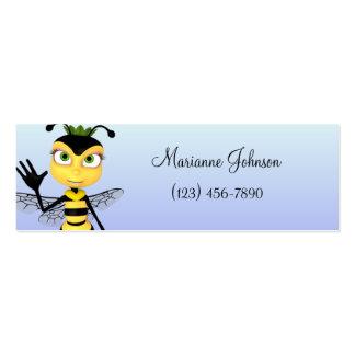 Cartoon Bee Skinny Profile Card Business Card Template