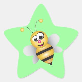 Cartoon Bee Star Sticker