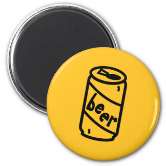 Cartoon Beer Can - Any Team Colors Fridge Magnet