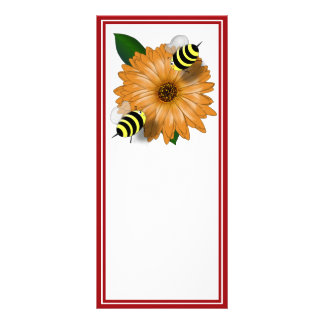 Cartoon Bees Get Together Rack Card