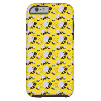 Cartoon Bees Tough iPhone 6 Case