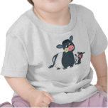 Cartoon Belted Galloway Cow & Calf Baby T-Shirt