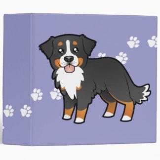 Cartoon Bernese Mountain Dog 3 Ring Binder