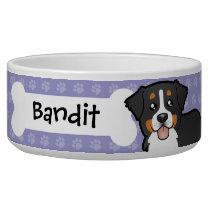 Cartoon Bernese Mountain Dog Bowl