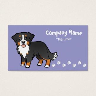 Cartoon Bernese Mountain Dog Business Card
