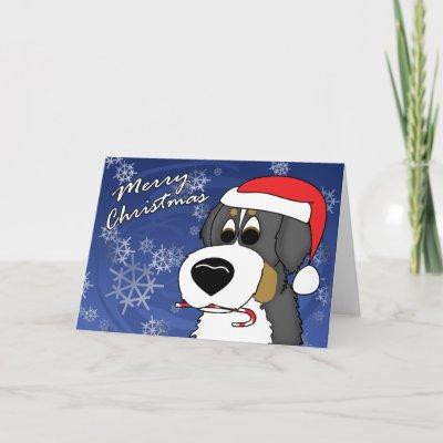 dog christmas cartoon