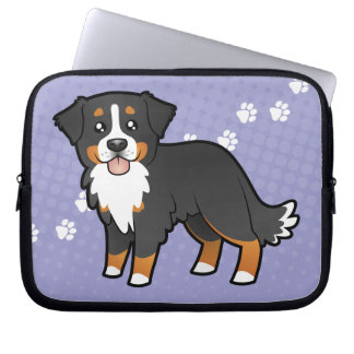 Cartoon Bernese Mountain Dog Computer Sleeve