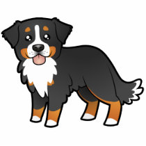 Cartoon Bernese Mountain Dog Cutout