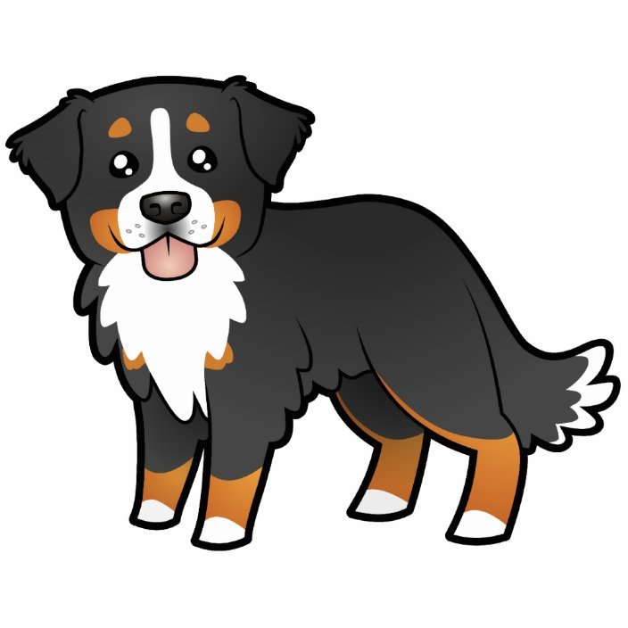 Cartoon Bernese Mountain Dog Cutout Zazzle Com
