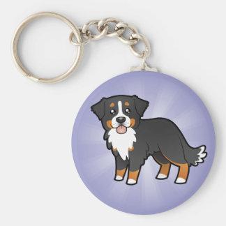 Cartoon Bernese Mountain Dog Keychain