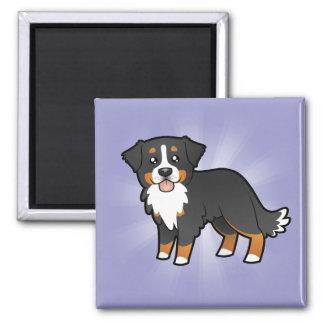 Cartoon Bernese Mountain Dog Magnet