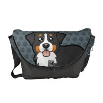 Cartoon Bernese Mountain Dog Messenger Bag
