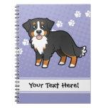 Cartoon Bernese Mountain Dog Notebooks