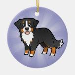 Cartoon Bernese Mountain Dog Ornaments