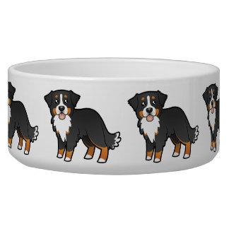 Cartoon Bernese Mountain Dog Dog Food Bowls