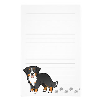 Cartoon Bernese Mountain Dog Stationery