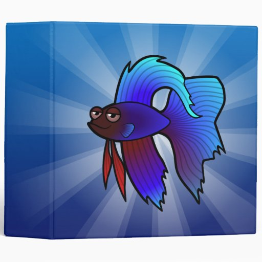 Cartoon Betta Fish / Siamese Fighting Fish Binder