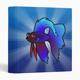 Cartoon Betta Fish / Siamese Fighting Fish Binder
